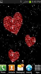 Glitter Red Hearts LWP