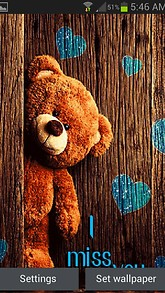 Brown Teddy Live Wallpaper