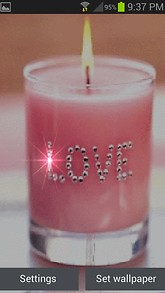 Pink Candle Live Wallpaper