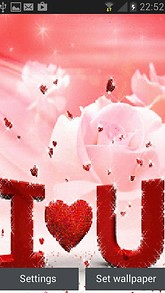 Red Hearts Rose LWP