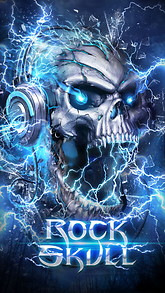 Electric skull live wallpaper